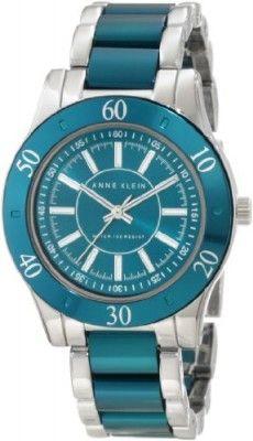 Relógio Anne Klein Women's 10/9981GNSV Teal Aluminum Bracelet Watch #Relogio #AnneKlein