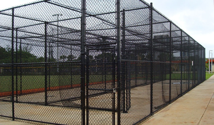Vinyl Coated Chain Link Fence Is Excellent For Batting