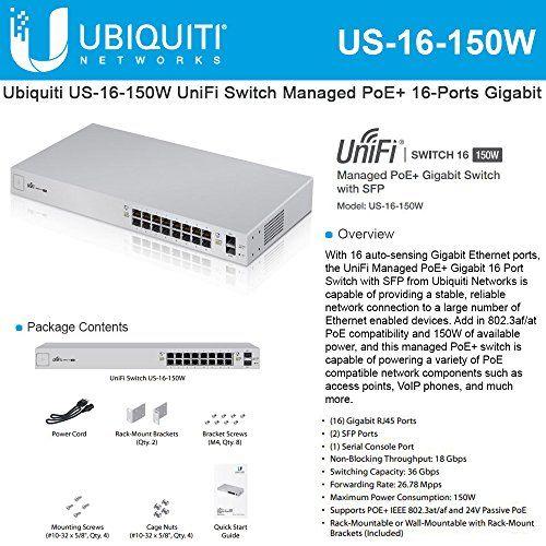 Ubiquiti Networks 8-Port UniFi Switch, Managed PoE+ Gigabit Switch with SFP, 150W (US-8-150W)    http://techgifts.mobi/shop/ubiquiti-networks-8-port-unifi-switch-managed-poe-gigabit-switch-with-sfp-150w-us-8-150w/