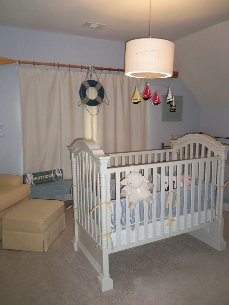 Nautical Nursery. Love The Curtain Rod. Iu0027ve Been Wanting To Try It