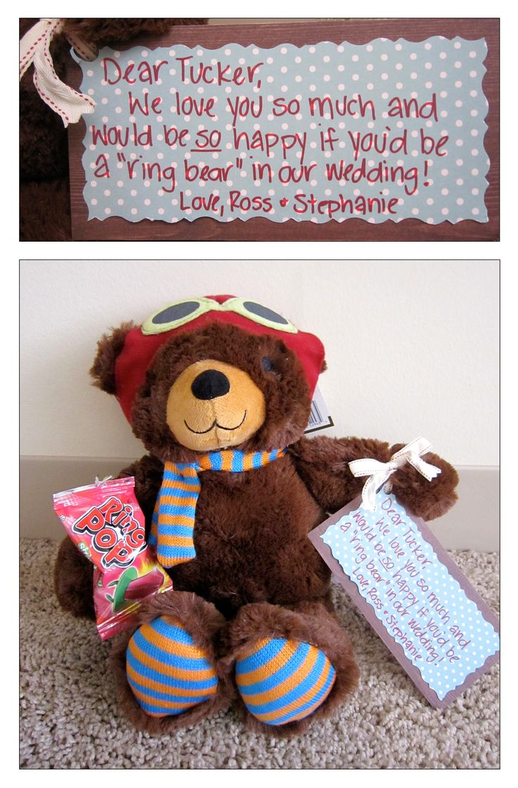 Weddings: DIY How to ask your ring bearers!