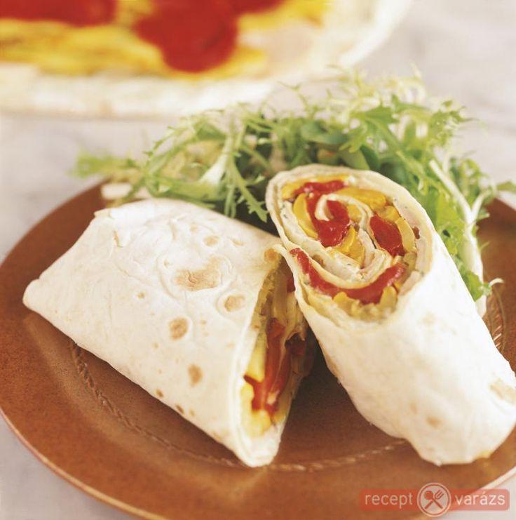 Csirkés, zöldséges wrap recept Készítsd el akár 2, vagy 12 főre, a Receptvarazs.hu ebben is segít!