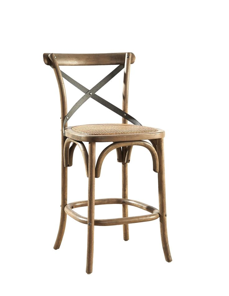 Good Steam Bent And Made Of Birch Solids, This Stool Was Inspired By Our  Bestselling Bentwood Bistro Chairs. The Seat Is Padded With A Woven Rattan  Cover.