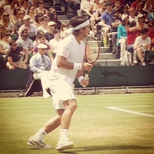 Fernando Verdasco of Spain, Wimbledon 2012.  Photo Credit: TennisByLisa on Instagram