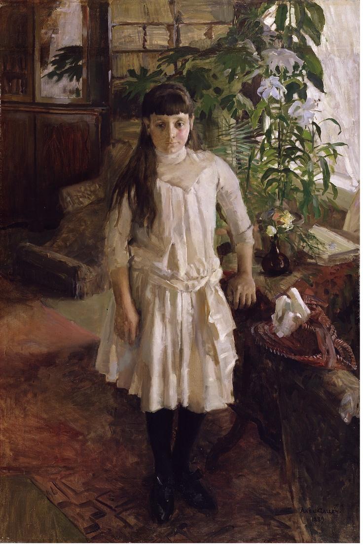 Akseli Gallen-Kallelan maalaama muotokuva G. A. Serlachiuksen Sissi-tyttärestä.