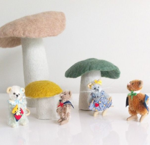 Character playing hide and seek under our Muskhane Mushroom.  Thanks to our sharing customers.  www.delamadele.com.au