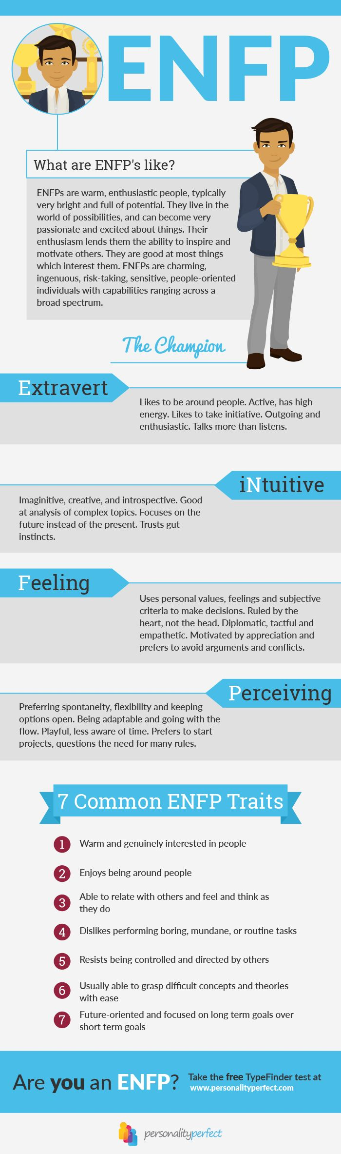 What are ENFP's like? Discover the 7 most important ENFP Traits - Myers Briggs Personality Types