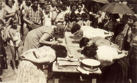 Watermelon Eating Contest, Clifton Gardens Picnic, 1954.