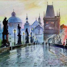 Валерий Георгиевич Маковой. Карлов мост. Прага