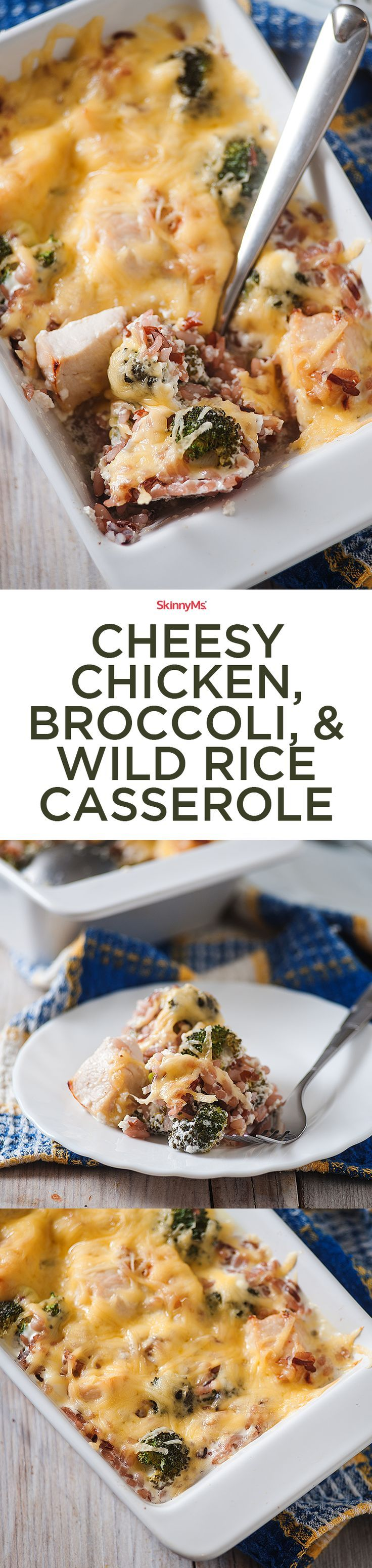 Add this scrumptious Cheesy Chicken, Broccoli, and Wild Rice Casserole to your weekly meal plan!