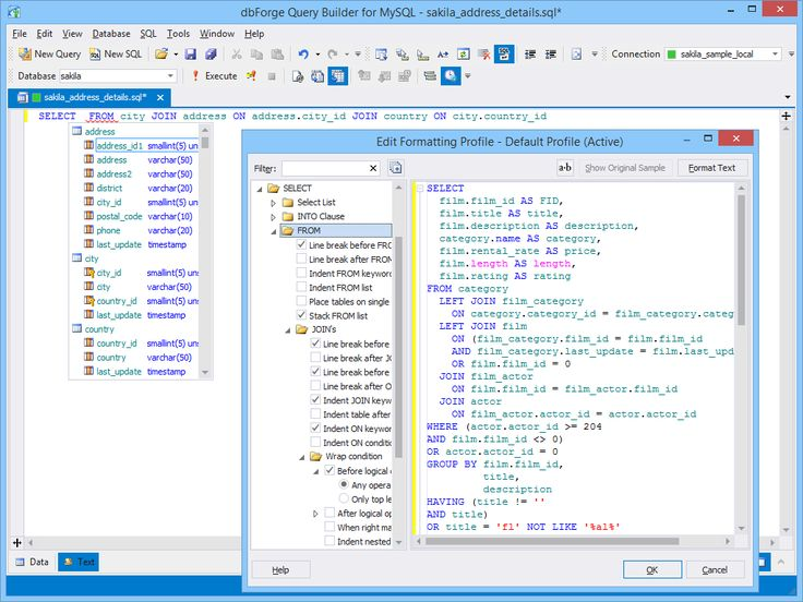 SQL Editing and Execution