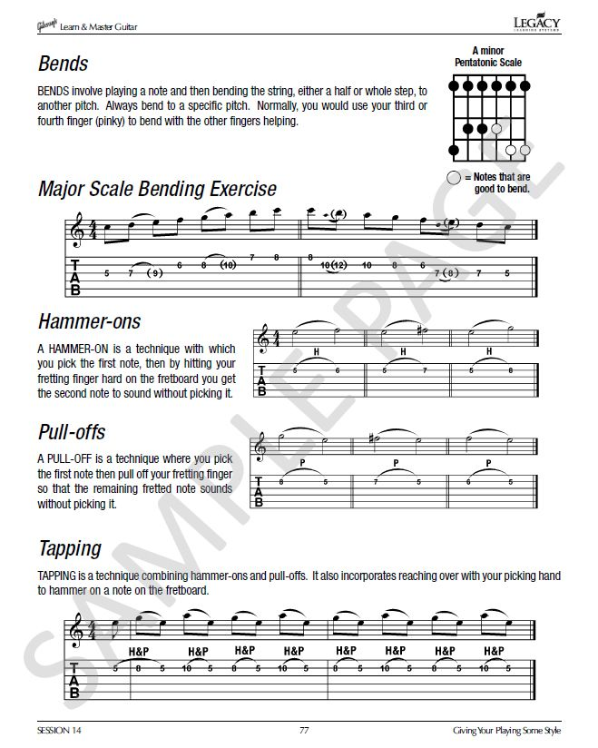 Guitar Lesson Book In Gibson S Learn Master Guitar Course Guitar Lessons Jazz Guitar Lessons Acoustic Guitar Magazine