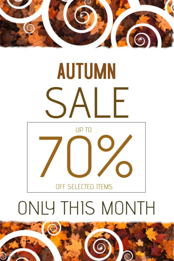 Autumn Sale Poster. Click on the image to customize on PosterMyWall.