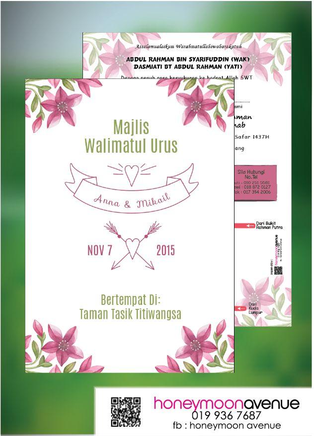 floral wedding card kad kahwin  kad kahwin online  design