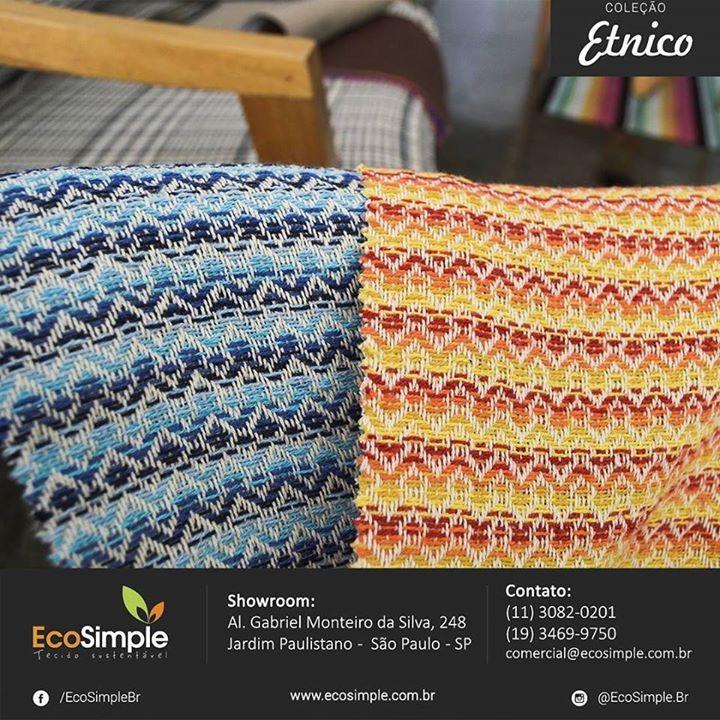 Tecidos Sustentáveis EcoSimple Coleção Etnico #sustentabilidade #ecofriendly #ecodesign #tecidosustentavel #textiles #ecosimple #etnico by ecosimple.br http://ift.tt/1TxqHoS