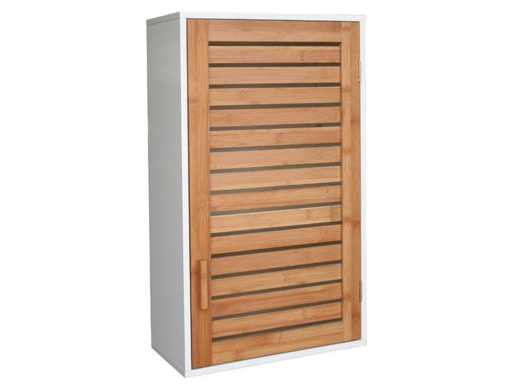 meuble haut salle de bain bambou