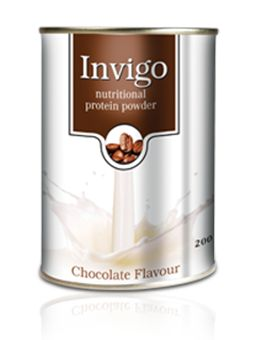 Invigo Nutritional Protein Powder is a low-fat milk and whey protein food supplement, ideal for the entire family. It is enriched with DHA – an important essential fatty acid that is crucial for the brain's functioning and recommended for children in their growing years.