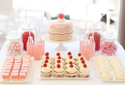 dessert table by Scissors Paper Cake - simple and stylish.