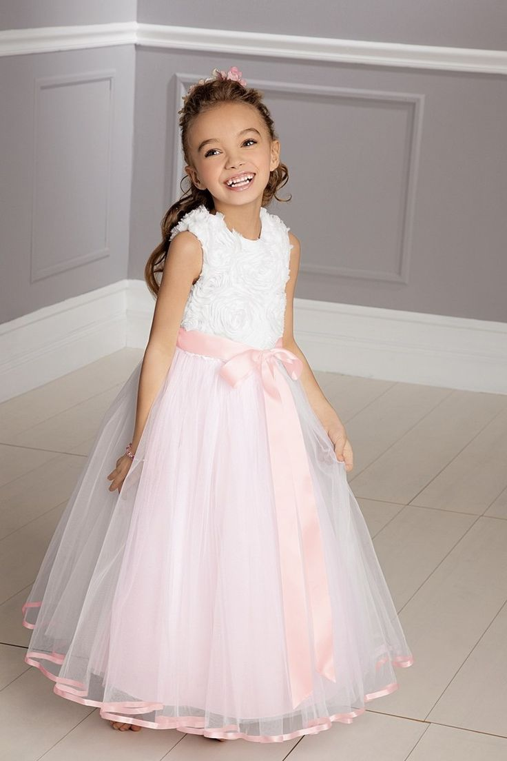 New+Arrival+Flower+Girl+Dresses+A+Line+Square+Floor+Length+Tulle
