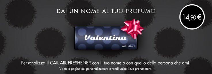Profumatore per auto personalizzato. Design by Michele Venisti. Millefiori Milano.