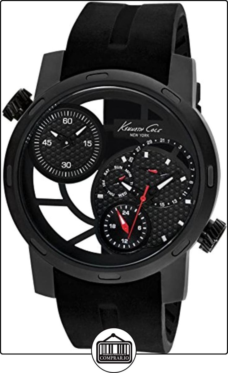 Kenneth Cole Transparency KC8018 Reloj de Pulsera para hombres Segundo Huso Horario de  ✿ Relojes para hombre - (Gama media/alta) ✿