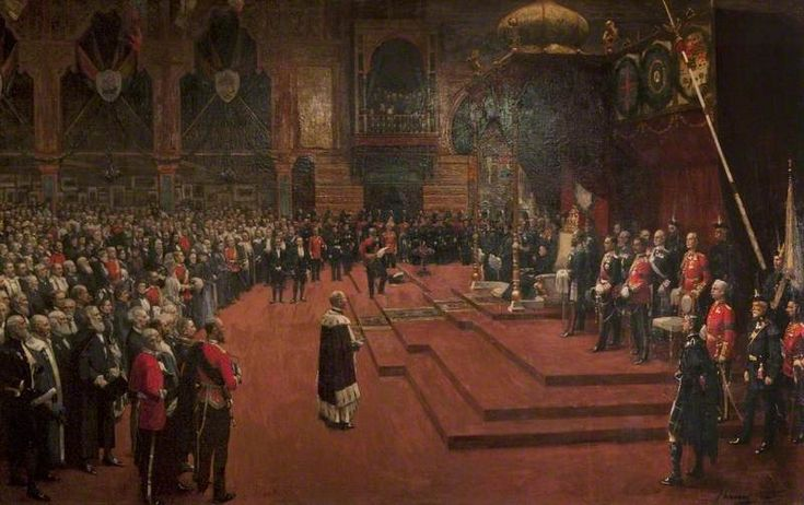 John Lavery - State Visit of Her Majesty, Queen Victoria to the Glasgow International Exhibition, 1888