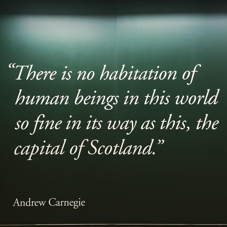 So lucky to live in the city of Edinburgh! #edinburgh #andrewcarnegie