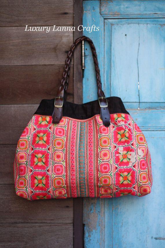 Luxury Lanna Hmong Ethnic Tote bag HB201262 by LuxuryLannaCrafts, $99.00