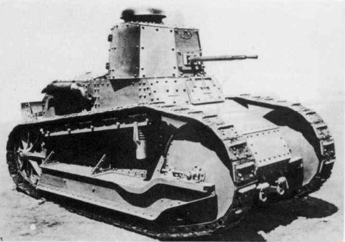 Fiat M 3000B - Denmarks first tank, 1928. Main armament: Danish twin 20 mm Madsen machine cannon.