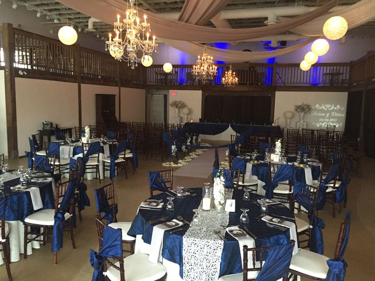 Ceremony and reception setup at The Cocoa Room