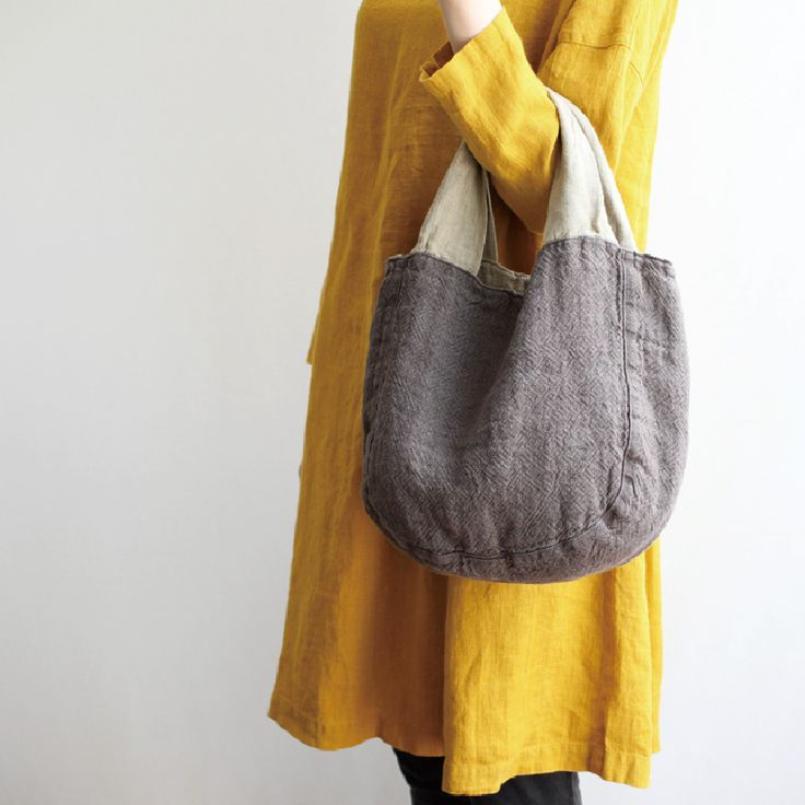 リバーシブルバッグ テレサ _ トープ/ストローの通販。リネン(麻)素材のリーノエリーナのバッグはリバーシブルなので、コーディネートも楽しめます。