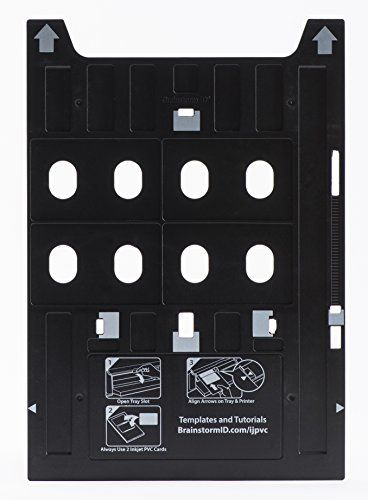 Inkjet PVC Card Tray for Epson Artisan 1430, Stylus Photo 1400, 1410, 1430W, 1500W, R800, R1800, R1900, R2000, R2880, SureColor P400 & P600  PRINT YOUR OWN PVC ID CARDS: This Brainstorm ID Epson tray replacement works with the Epson Artisan 1430, Stylus Photo 1400, 1410, 1430W, 1500W, R800, R1800, R1900, R2000, R2880, and SureColor P400 & P600 printers. It works in place of the normal CD/DVD tray that comes with your printer.  HIGH QUALITY ID BADGES: Create beautiful, high quality PVC ...
