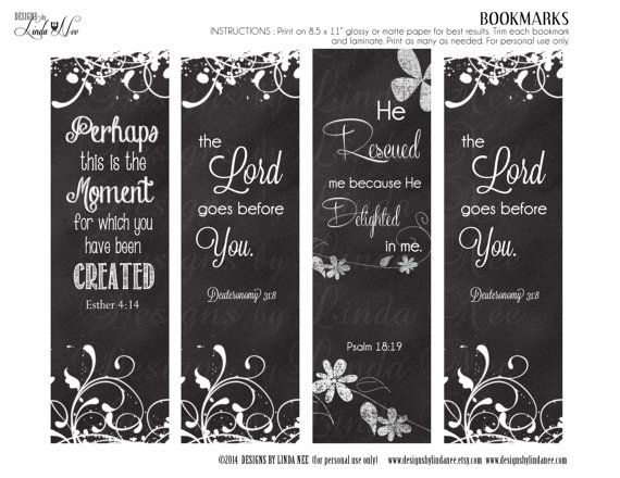 Bookmarks Printable Christian Scripture 7 Bookmarks