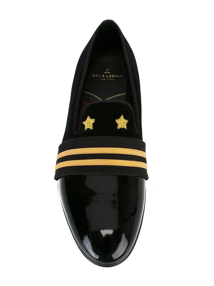 Louis Leeman strap detail slippers