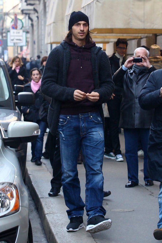 Zlatan Ibrahimovic out shopping In Milan.