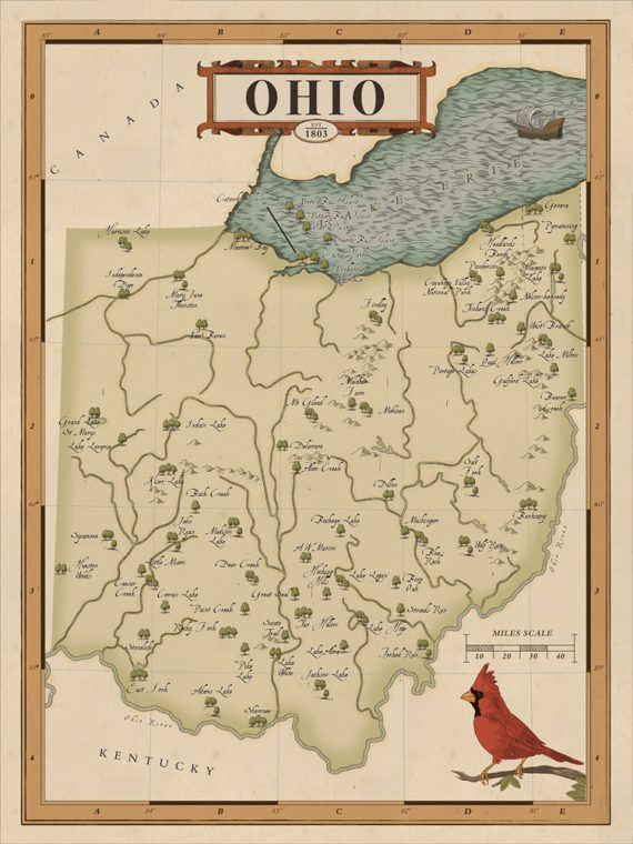 This unique National Parks Map of Ohio is a vintage style piece designed for those who love the outdoor heritage and the story of parks. It showcases the state parks of Ohio. This rustic and high quality print makes the perfect gift for the outdoorsy ones you love or as a treat for yourself, the perfect checklist for your adventures around Ohio. Keep track of the parks youve visited and plan your next big adventure.  Map drawn to look historic, includes locations of Ohio State Parks…