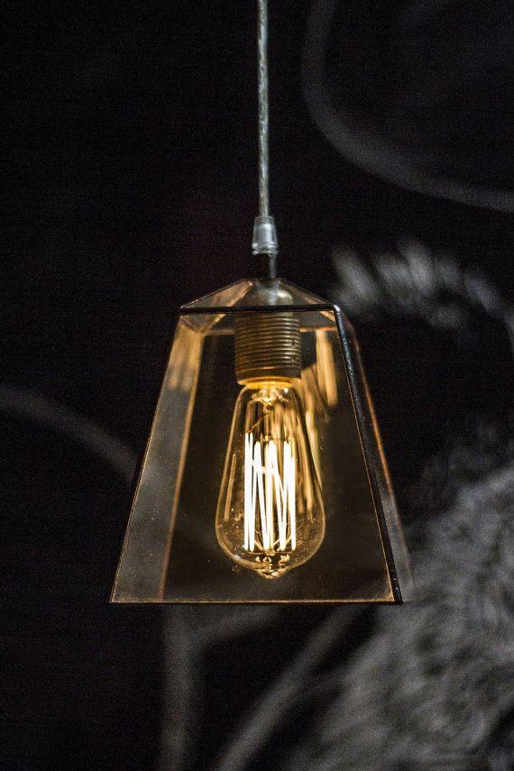 Industrial terrarium lamp. Clear glass simple lamp. by WPworkshop