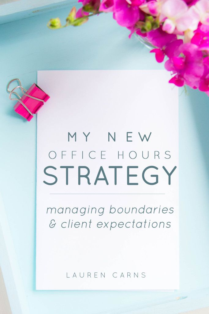 My New Office Hours Strategy: Managing Boundaries and Client Expectations
