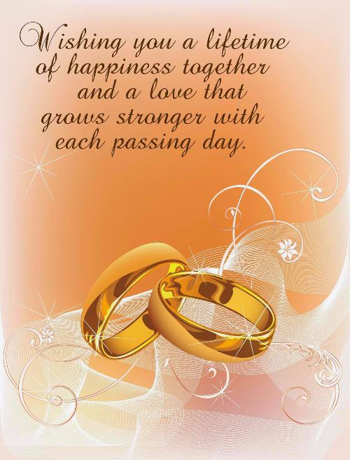 Happy Wedding Wishes For On A Card