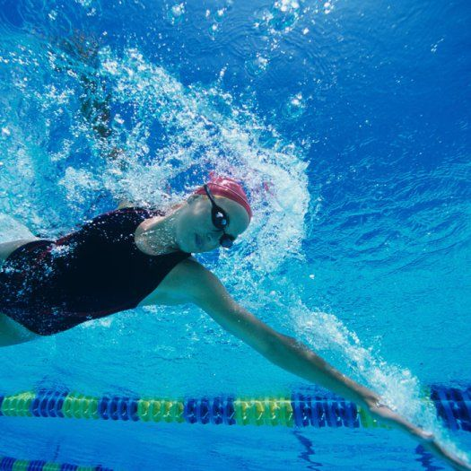 Two-time olympic swimmer, Elizabeth Beisel, shares a fast-paced interval exercise plan that burns off calories and keeps things challenging in the pool.