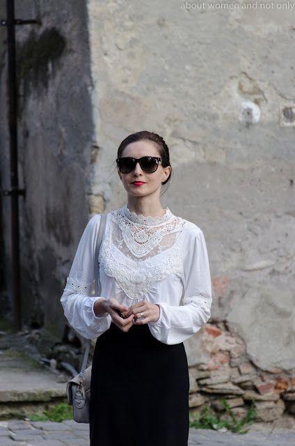 black and white #lace #redlipstick