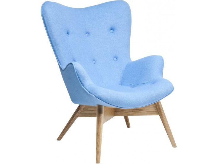 Fotel Angels Wings Eco niebieski wełna — Fotele Kare Design — sfmeble.pl