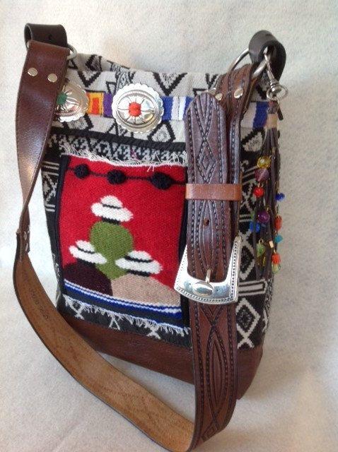 Southwestern+Bohemian+Shoulder+Bag+Handmade+Purse