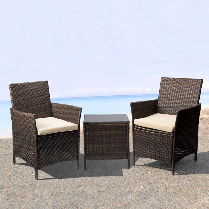 Amazon Com Devoko Patio Porch Furniture Set 3 Piece Pe 400 x 300