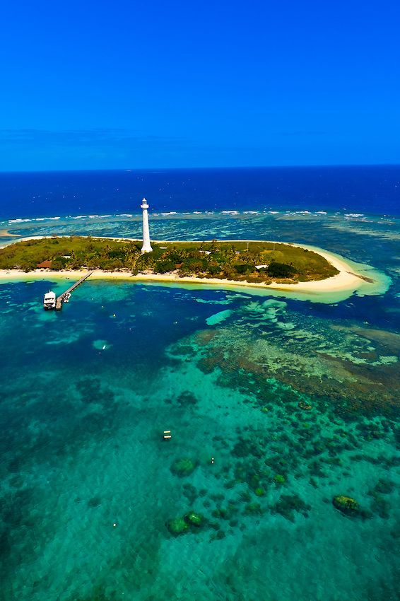 Amedee Lighthouse. Barrier Reef - New Caledonia. New Caledonia (French: Nouvelle-Calédonie) is a special collectivity of France located in the southwest Pacific Ocean