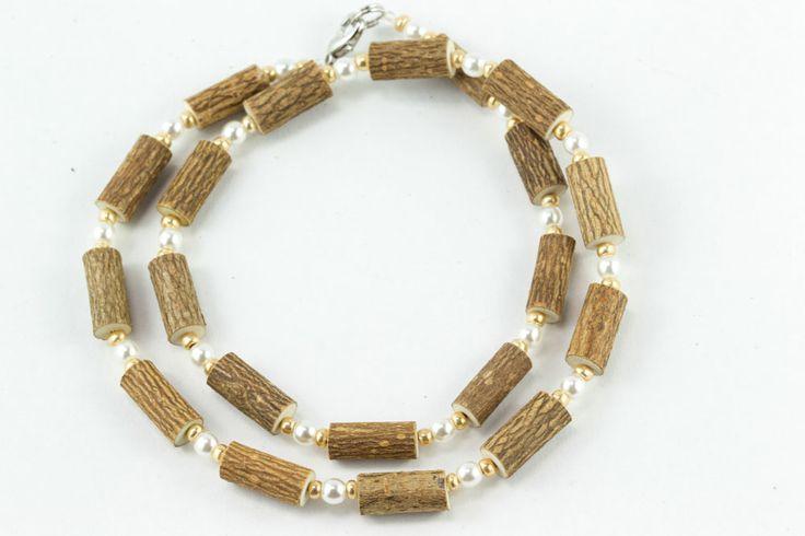 Women Hazel Necklace - pearl/gold - Healing Hazel