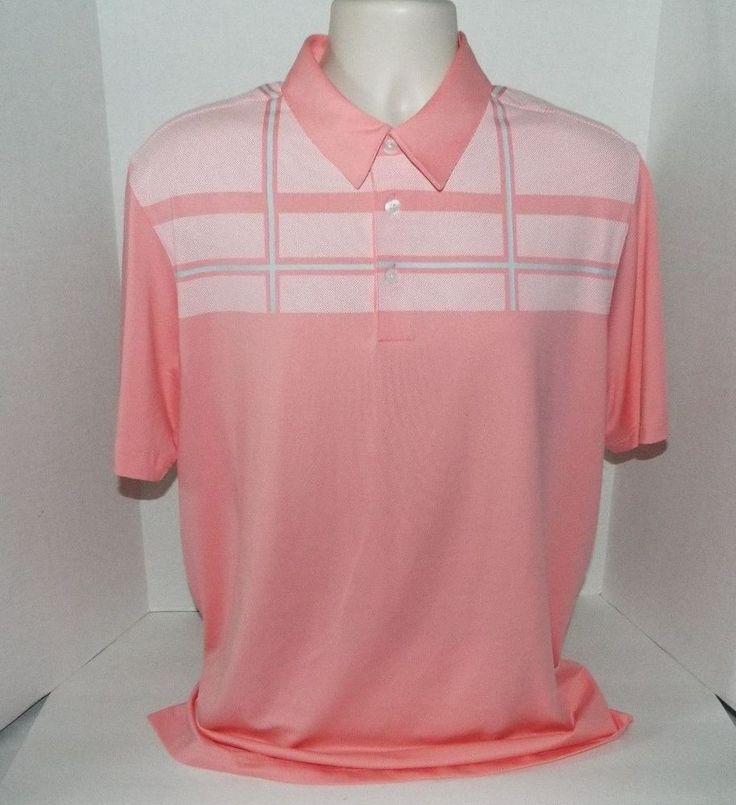 Ashworth Golf Polo Shirt Abacoa Club EZ-Tech 2 Performance Stretch Salmon Large   | eBay
