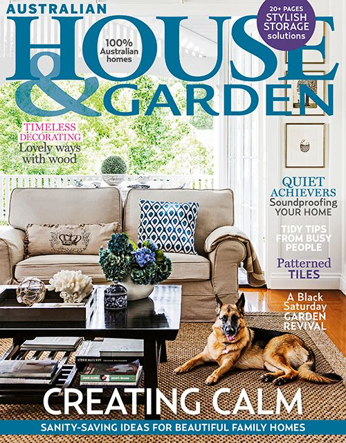 Another project on the cover of this month's House and Garden Magazine! Our client Kylie has decorated her house superbly, creating a relaxed and elegant home. - Trebilcock & Associates Architects