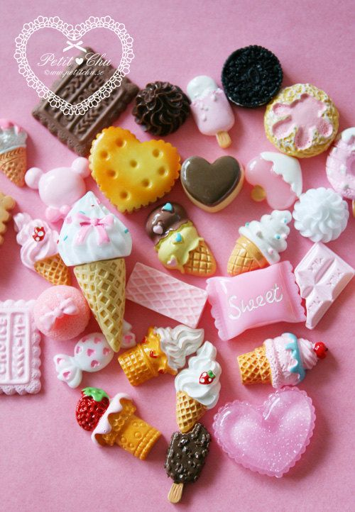Wholesale Cute Kawaii Kawaii Cute Cabochon Mix Starter Kit 30 pcs. kr89,20, via Etsy. http://www.etsy.com/shop/PetitChu