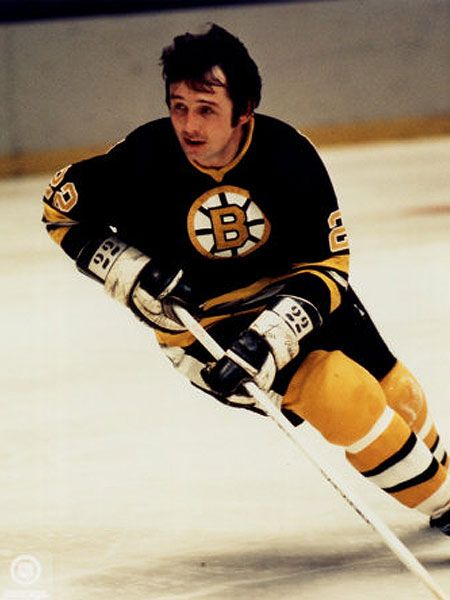 Brad Park Boston Bruins Skating with Puck. Good Ole number 2, my husband's favorite player of all time!!